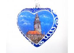 Christmas Ornament Heart glass Český Krumlov