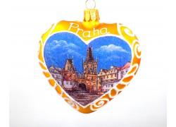 Christmas Ornament Heart glass Prague