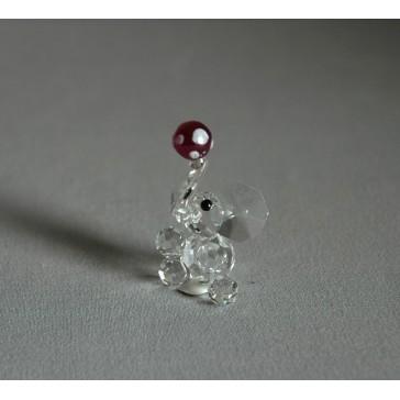 Slon 601 s míčem červený 3x5x2 cm