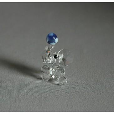 Slon 601 s míčem modrý 3x5x2 cm