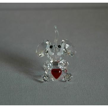 Slon 606 srdce CR- červená 4x5x3 cm