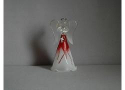 Skleněný anděl 9,5 cm 5. www.sklenenevyrobky.cz
