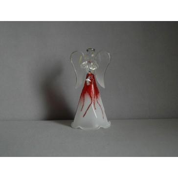 Sklenený anjel 9,5 cm 5. www.sklenenevyrobky.cz