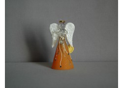 Skleněný anděl 9,5 cm 14. www.sklenenevyrobky.cz