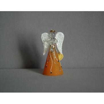 Skleněný anděl malý 9,5 cm 14.