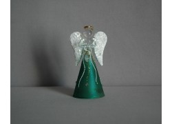 Skleněný anděl 9,5 cm 16. www.sklenenevyrobky.cz
