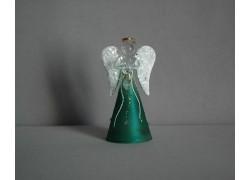 Skleněný anděl malý 9,5 cm 16.