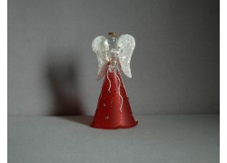Glass angel 11 cm 1. www.sklenenevyrobky.cz