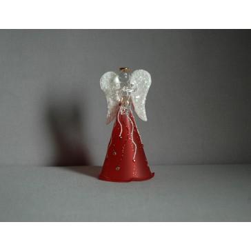 Sklenený anjel 11 cm 1. www.sklenenevyrobky.cz