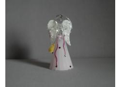 Skleněný anděl 11 cm 12.