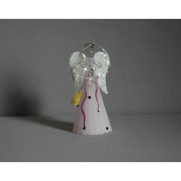 Skleněný anděl střední 11 cm 12.