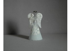 Skleněný anděl střední 11 cm 13.
