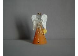 Skleněný anděl střední 11 cm 14.