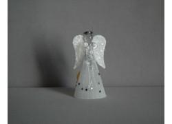 Skleněný anděl 11 cm 15.