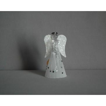 Skleněný anděl střední 11 cm 15.