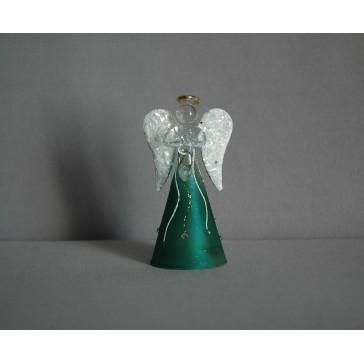 Skleněný anděl střední 11 cm 16.