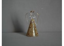 Glass angel 11 cm 17. www.sklenenevyrobky.cz