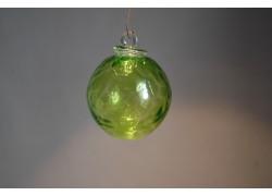 Skleněná koule 6cm zelená www.sklenenevyrobky.cz