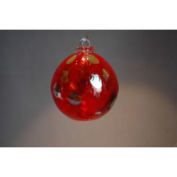 Závěsná koule z hutního skla 8 cm 1.