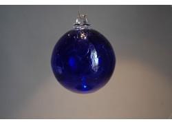 Skleněné koule 8cm modrá www.sklenenevyrobky.cz