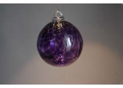 Glass sphere 8cm purple www.sklenenevyrobky.cz