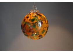Glass balls 8cm to orange www.sklenenevyrobky.cz