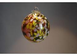 Závěsná koule z hutního skla 8 cm 6.