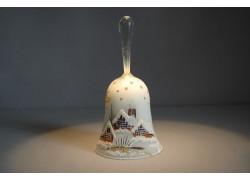 Christmas bell, in white decor www.sklenenevyrobky.cz