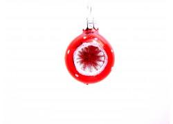 Vánoční koule-vpichovaný reflektor-červená 3cm www.sklenenevyrobky.cz