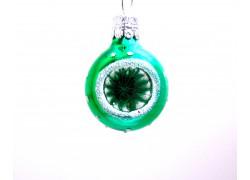 Vánoční ozdoba koule-vpichovaný reflektor 3 cm
