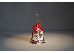Zvonek vánoční s mašlí 10 cm červený