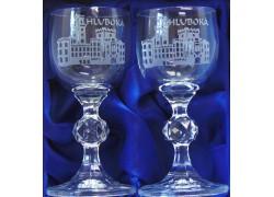Dárkový set zámek Hluboká s dvěmi skleničkami