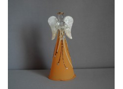 Sklenený anjel oranžový