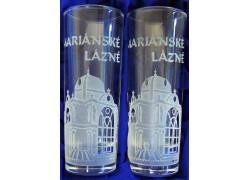 Dárkový set Mariánské Lázně s dvěmi skleničkami