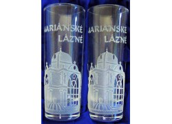 Giftbox Marianske Lazne with two glasses
