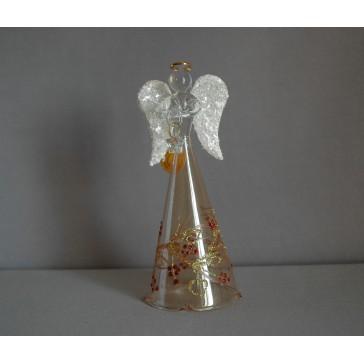Skleněný anděl velký15cm 27.