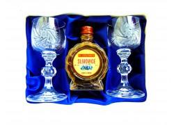 Slivovice Jelínek dárkový set broušené skleničky