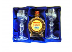 Slivovice Jelínek gift set cut glasses