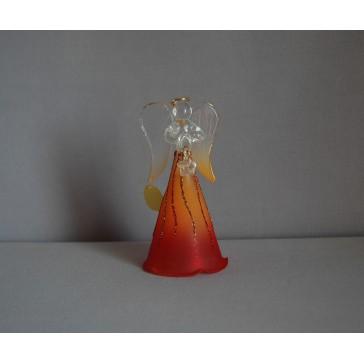 Skleněný anděl střední 11cm 24.