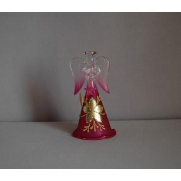 Skleněný anděl střední 11cm 28.