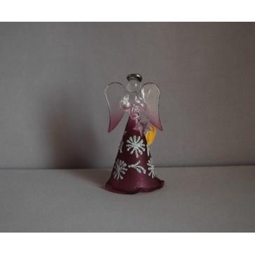 Skleněný anděl střední 11cm 31.