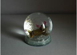 Snow globe 60mm and figurine Taurus www.sklenenevyrobky.cz
