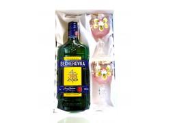 Becherovka dárkový set malované skleničky