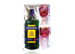 Becherovka dárkový set broušené skleničky