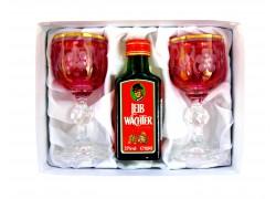 Leib Wächter 0,04l dárkový set se dvěmi skleničkami