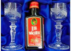Leib Wächter 0,04l darčekový set s dvoma pohármi