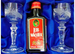 Leib Wächter 0,04l giftbox with two glasses