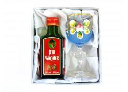 Leib Wächter 0,04l dárkový set se skleničkou