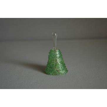 Zvonek skleněný 6,5cm zelený