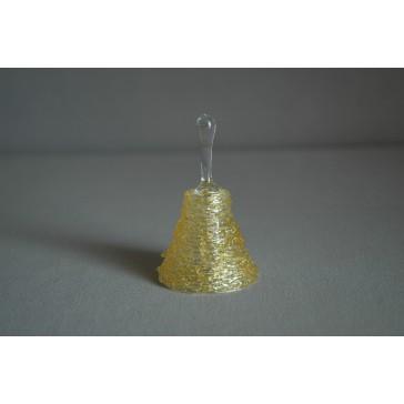 Zvonek skleněný 6,5cm žlutý